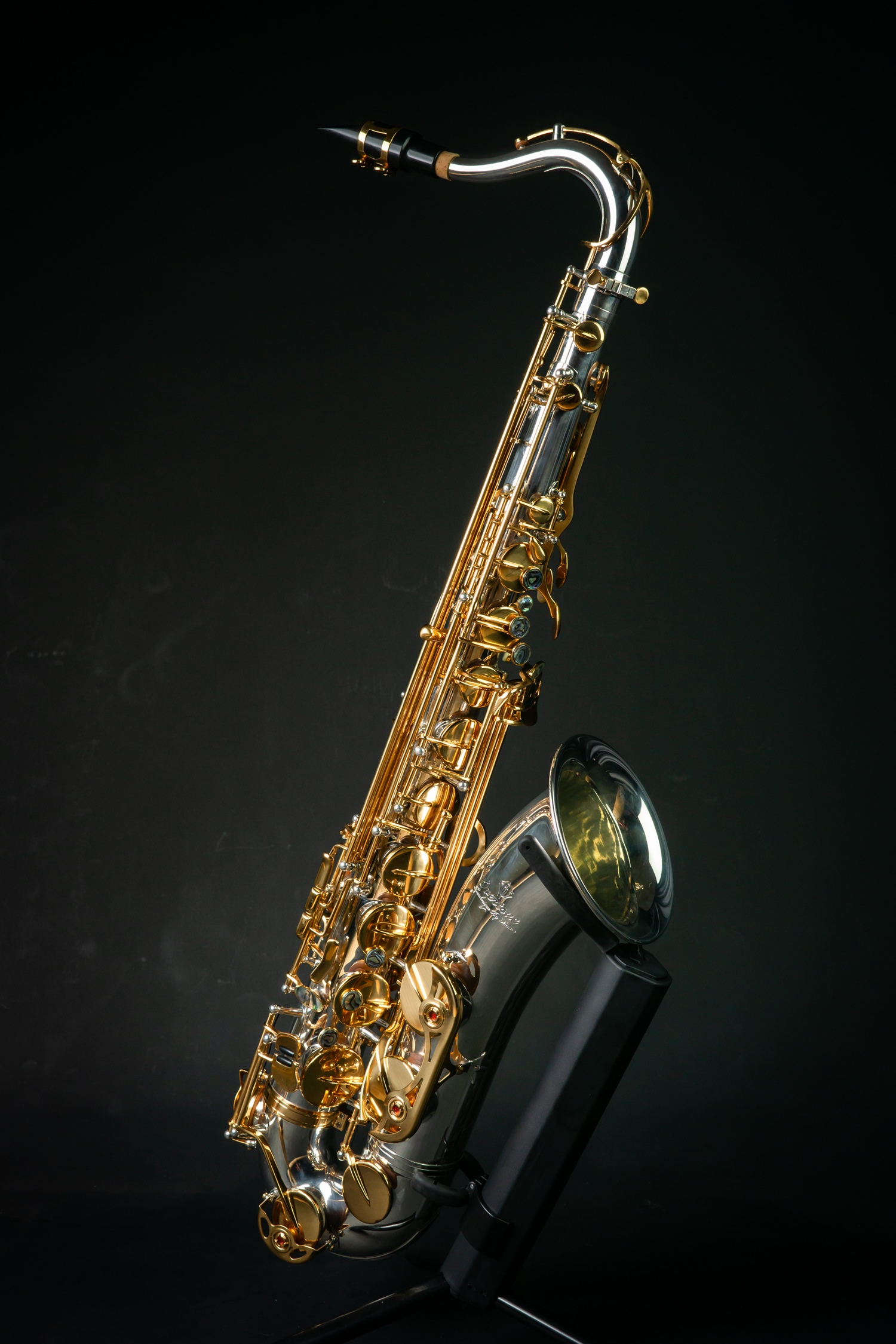 Overtone Tenor Saxophone รุ่น silver plate & gold key  OST-501